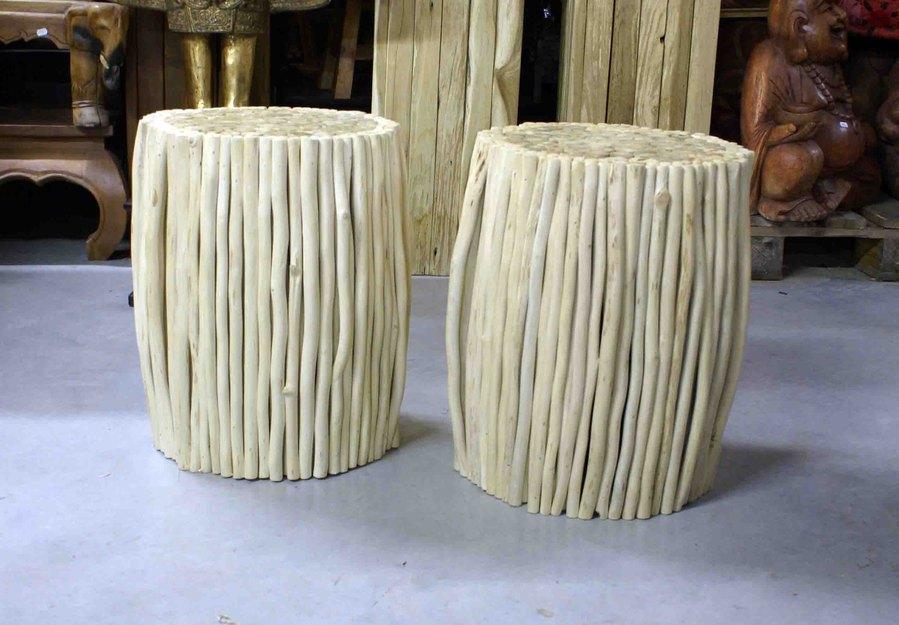 tabouret en bois h 46 cm. Black Bedroom Furniture Sets. Home Design Ideas