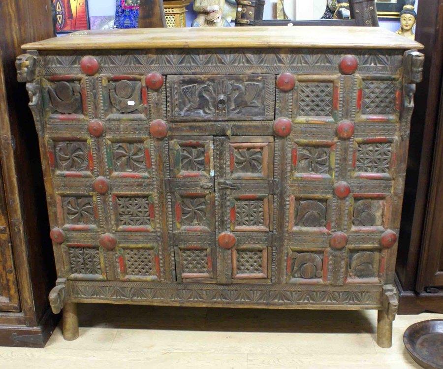 Ancien meuble de mariage indien h 113 cm for Meuble asiatique ancien