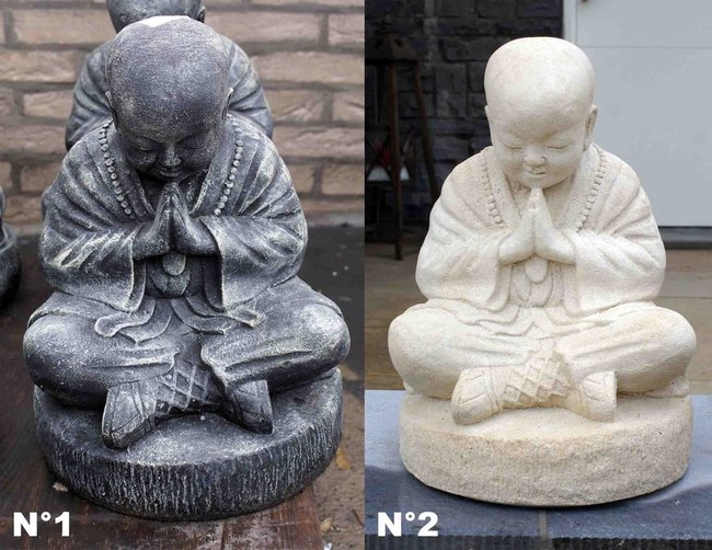 des statues de bouddha et de ganesh en pierre de lave statue en pierre pour jardin terrasse. Black Bedroom Furniture Sets. Home Design Ideas