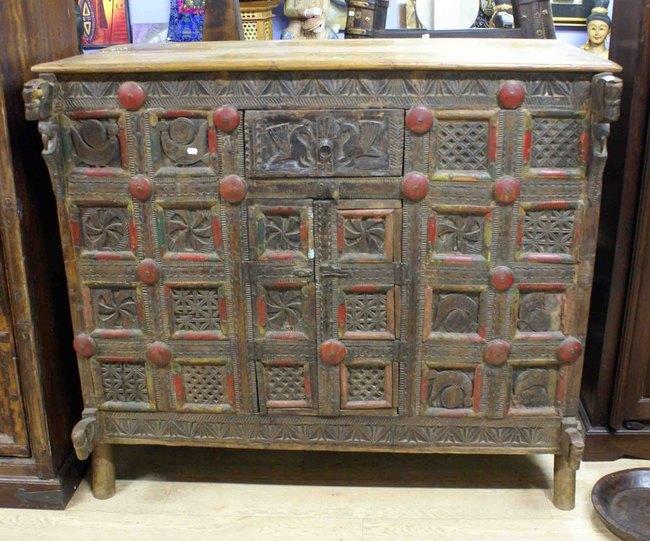 Meuble rangement bois massif mobilier teck meuble for Meuble asiatique ancien