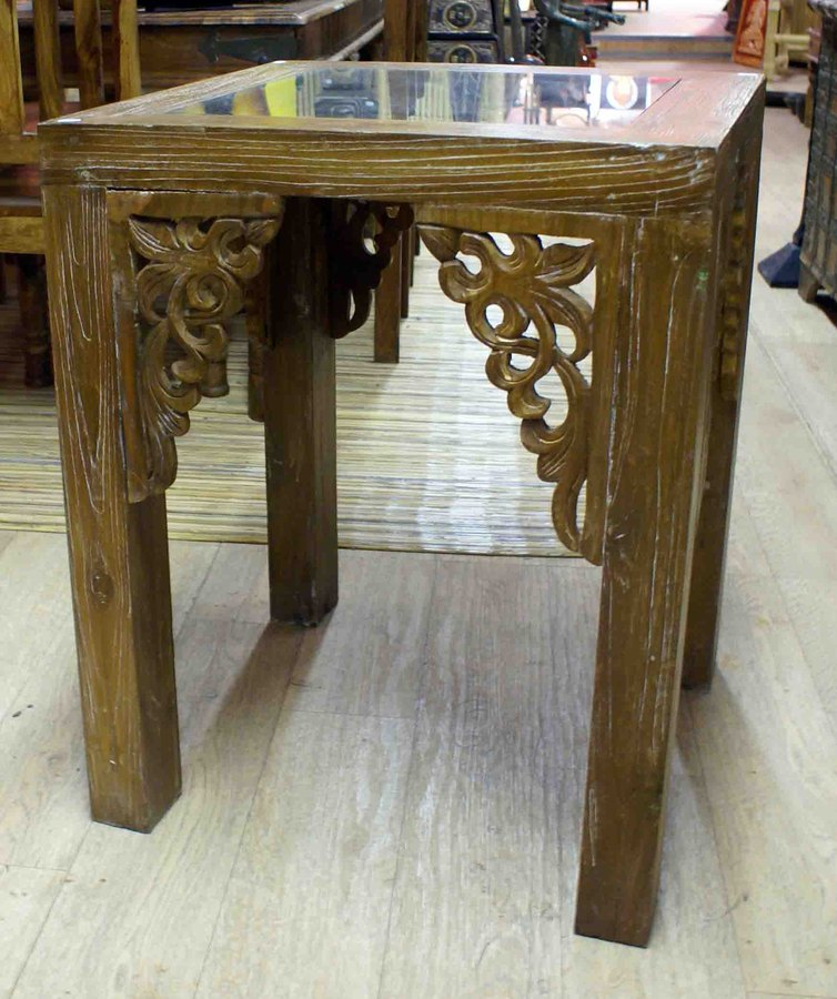 Table Haute En Bois De Teck H 75 Cm