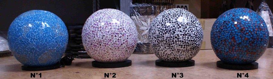 H26 Boule Mosaïque Cm Lampe En Verre De OkPn80w